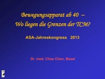 Bewegungsapparat ab 40 – Wo liegen die Grenzen der TCM?