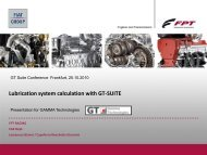 Lubrication system calculation with GT-SUITE - Gamma Technologies