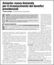 Amianto: nuova domanda per il riconoscimento dei ... - UIL Basilicata