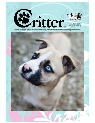 animal adoption, rescue and education along the ... - Critter Magazine