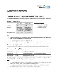 CM 2009.1 Terminal Server System Requirements - Casewise