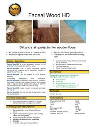 Safety Data Sheet Faceal Wood HD - pss-interservice.ch