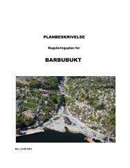 PLANBESKRIVELSE BARBUBUKT - Arendal kommune