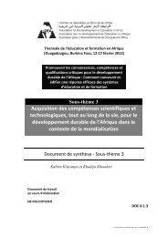 Acquisition des compétences scientifiques et ... - ADEA