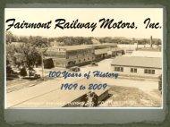 Fairmont Railway Motors, Inc.