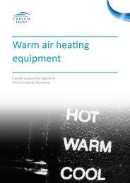 ECA767 Warm Air Heating Equipment - Enhanced Capital Allowances