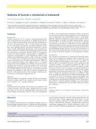 Sindrome di Tourette e refrattarietà ai trattamenti
