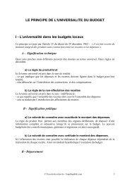 LE PRINCIPE DE L'UNIVERSALITE DU BUDGET I - L ... - Canalblog