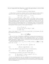 On the Compressible Euler Equations coupled with gravitational or ...