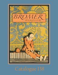 Catalogue 138 - Bromer Booksellers