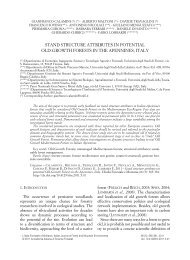 stand structure attributes in potential old-growth forests in the ...