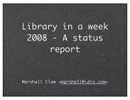 BoostCon 2009 Library in a Week