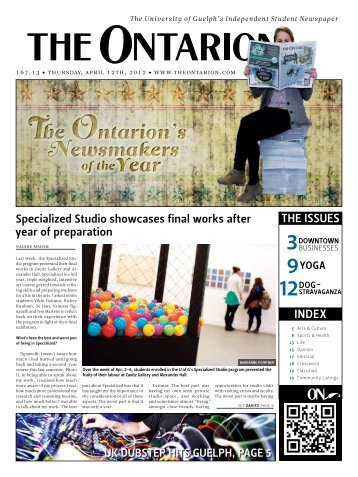 Index the ISSueS - The Ontarion