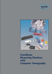 Coordinate Measuring Machines with Computer ... - Werth Inc.