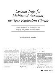 Coaxial Traps for Multiband Antennas, the True Equivalent Circuit
