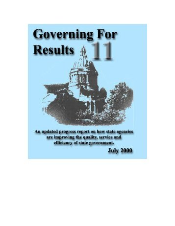 Governing for Results 11 - Washington State Digital Archives