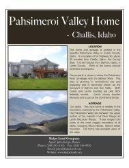 Pahsimeroi Valley Home edit - Knipe Land Company