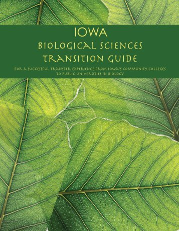 Iowa Biological Sciences Transition Guide 2011 - STEM