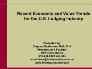 Recent Economic and Value Trends for the U.S. Lodging ... - HVS.com