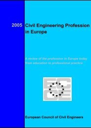 2005 Civil Engineering Profession in Europe - European Council of ...