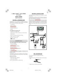 CABLE FREETM WEATHER STATION - Safe Home Products