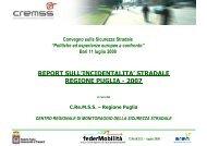 Centro Regionale di Monitoraggio e Governo della ... - CReMSS