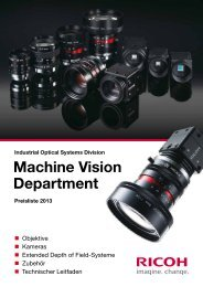 Machine Vision Department - Security Systems - Pentax