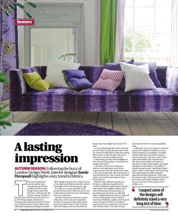 A lasting impression - Jamie Hempsall Ltd