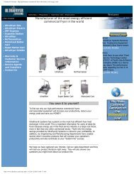 Ultrafryer® Systems - High performance commercial fryers