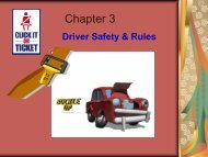 Chapter 3 - Driver Safety & Rules - Teacher Notes