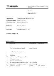 Kallelse/föredragningslista/dagordning - Uppsala kommun