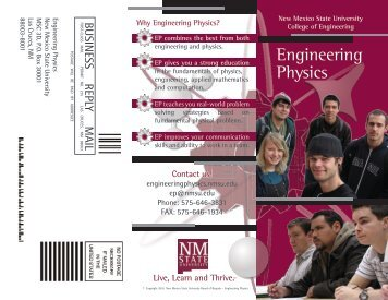 Brochure - Engineering Physics - New Mexico State University