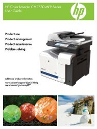 HP Color LaserJet CM3530 MFP Series User Guide - ENWW - Unik.no