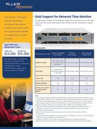 Gold Support for Network Time Machine - Fluke Networks
