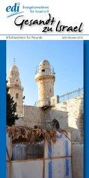 Oktober 2013 - Evangeliumsdienst für Israel e.V.