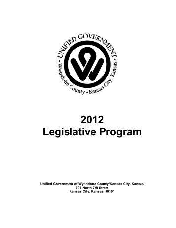 2012 Legislative Program - Unified Government of Wyandotte ...
