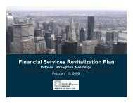 Financial Services Revitalization Plan - NYCEDC