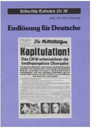 Historische Tatsachen - Nr. 38 - Udo Walendy - Endloesung fuer ...