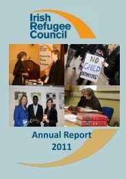 Annual Report 2011 - Irish Refugee Council