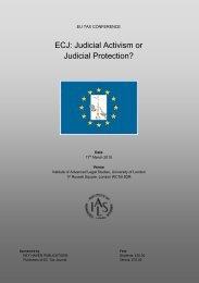 ECJ: Judicial Activism or Judicial Protection? - Institute of Advanced ...