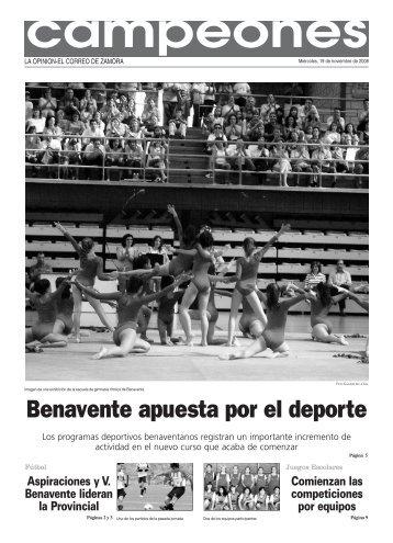 Benavente apuesta por el deporte - La Opinión de Zamora