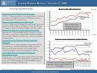 Capital Markets Review – October 17, 2008 - Corporate Executive ...