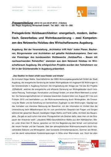 Pressemitteilung zur Veranstaltung - Netzwerk Holzbau
