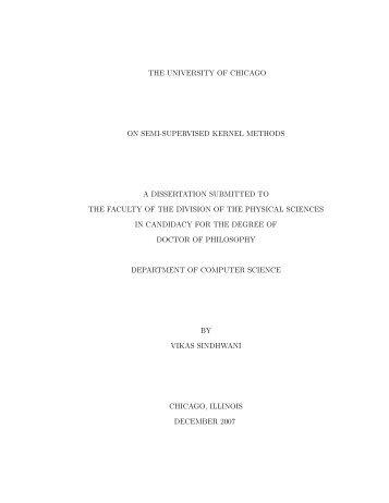 On Semi-supervised Kernel Methods - Vikas Sindhwani