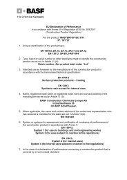 EU-Konformitätserklärung für MASTERTOP P 618 - EN 13813 ... - Basf