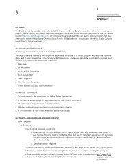 Softball Rules - Special Olympics