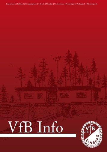 Termine VfB Einberg - alle Abteilungen