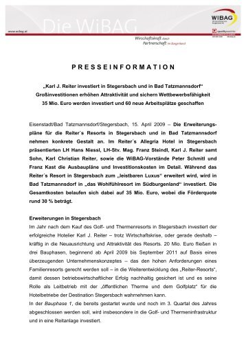 presseinformation - WiBAG
