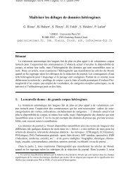 Maîtriser les déluges de données hétérogènes - Accueil