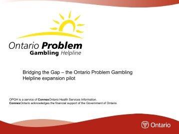 Ontario problem gambling helpline mandalet bay casino las vegas nv